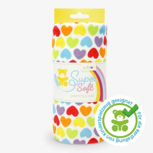minky stoff meterware supersoft rainbowlove hearts spielzeugtauglich 1