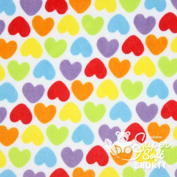 pluesch muster herzen supersoft shorty rainbowlove hearts 1