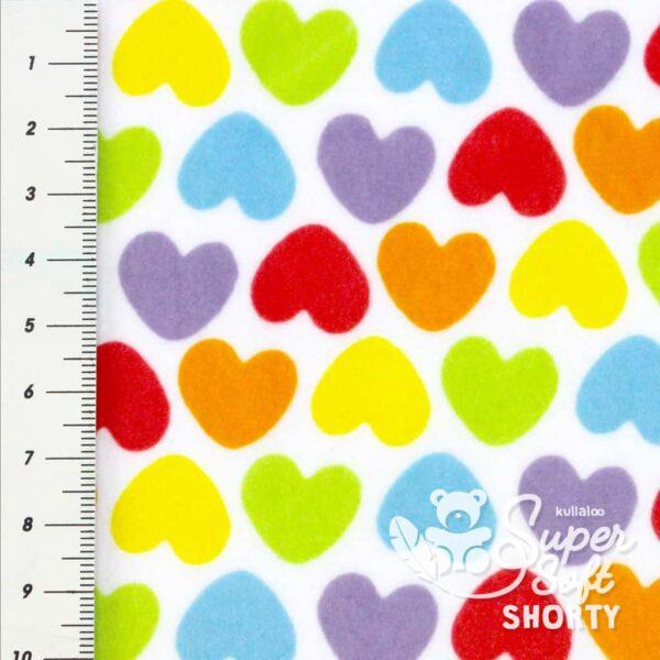 pluesch muster herzen supersoft shorty rainbowlove hearts 2
