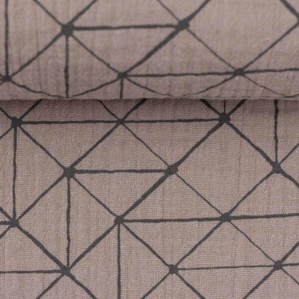 Swafing Jeron Double Gauze geometrische Muster