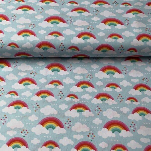 Kim Swafing Baumwollstoff Regenbogen