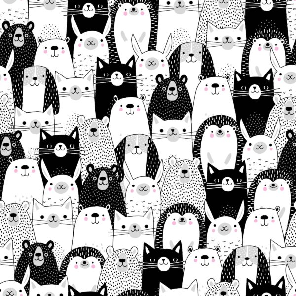 Black and White Swafing Tiere