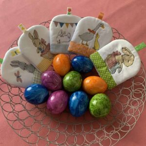 Eierwärmer Ostern Tischdekoration Osterdeko Hase Eier