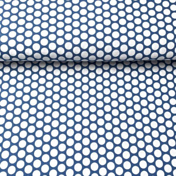 Westfalenstoffe Tupfen blau/weiß, Kopenhagen