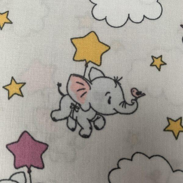 Baumwollstoffe S&W Elefanten