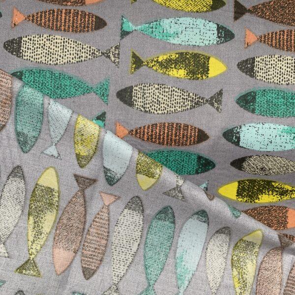 Glünz Fische Baumwollstoff