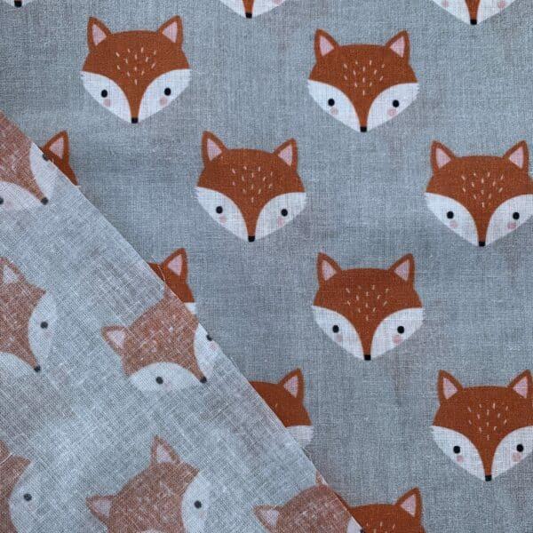 Baumwolle Druckstoff Fuchskopf Fuchs