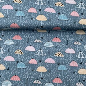 Baumwollstoff Regenschirme