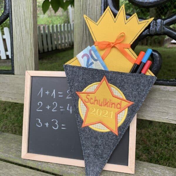 Schultüten-Anhänger - Geschenkanhänger Schulstart - Schulkind