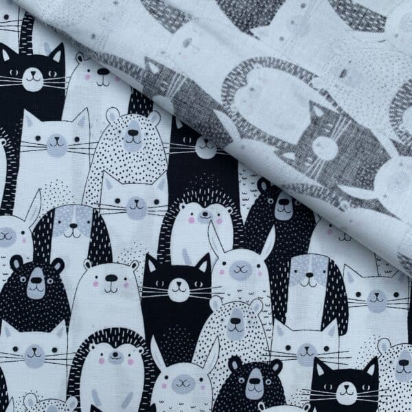 Black and White Tierprint Swafing